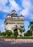 Patuxai,纪念门在万象,老挝的中心 库存图片