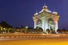 Patuxai Вьентьян, Лаос Стоковые Изображения
