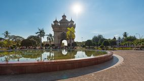 Patuxai в Вьентьян, Лаосе Стоковая Фотография RF