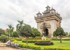 Patuxai, мемориальный памятник - Вьентьян Стоковое фото RF