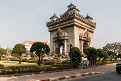 Patuxai,目的地风景万象,老挝 图库摄影