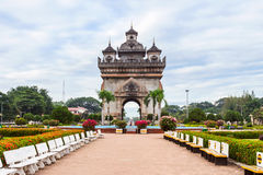 Patuxai Arch monument. Royalty Free Stock Image