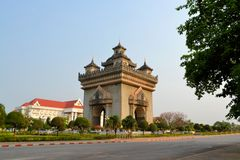 Patuxai arch monument, victory gate, Vientiane Stock Images