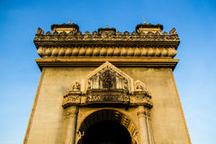 Patuxai arch monument.vientaine.thecapital of loas. Royalty Free Stock Photo