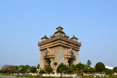 Patuxai arch monument, Vientiane Laos Royalty Free Stock Photos