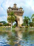 Patuxai brama w Vientiane Zdjęcie Royalty Free