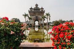 Patuxai, Destination Scenic of Vientiane, Laos Royalty Free Stock Photos