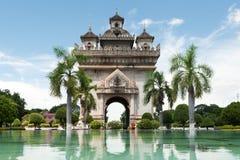 Patuxai en Vientiane Fotos de archivo libres de regalías