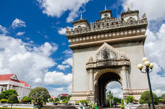 Patuxai Gate in Vientiane. Royalty Free Stock Photos