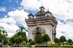 Patuxai Gate in Vientiane. Stock Images
