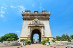 Patuxai Laos Stock Afbeelding
