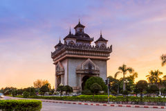 Patuxai literally meaning Victory Gate in Vientiane Royalty Free Stock Photos