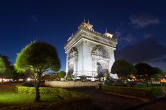 Patuxai. A memorial monument, in Vientiane, Laos stock photography