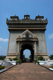 Patuxai monument Royalty Free Stock Images