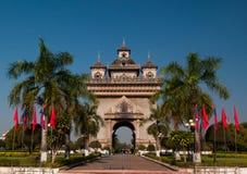 Patuxai monument av frihet Royaltyfri Fotografi