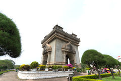 Patuxai monument i Vientiane Royaltyfria Bilder
