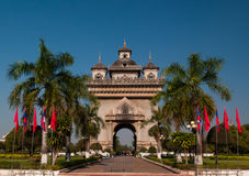 Patuxai monument of liberty Royalty Free Stock Photography