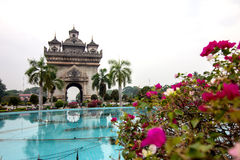 Patuxai monument Royalty Free Stock Photography