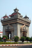 Patuxai monument in Vientiane Stock Photography