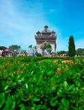 Patuxai monument, Vientiane, Laos 2 Royaltyfri Fotografi