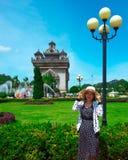 Patuxai monument, Vientiane, Laos Royaltyfri Fotografi