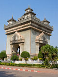 Patuxai monument in Vientiane, Laos stock images