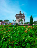 Patuxai Monument, Vientiane, Laos. 2 Royalty Free Stock Photography