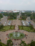 Patuxai park view from the top of Victory Gate, Vientiane stock image
