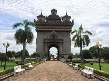 Patuxai , patuxay royalty free stock photos