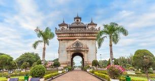 Patuxai que significa literalmente Victory Gate em Vientiane foto de stock royalty free