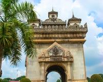 Patuxai-Tor in Vientiane Stockfotos