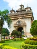 Patuxai-Tor in Vientiane Stockbilder