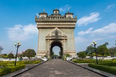 Patuxai, Victory Gate Imagens de Stock Royalty Free