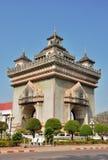 Patuxai: Victory Gate en Vientián Fotografía de archivo