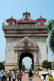 Patuxai Victory Gate of Poort van Triumph Royalty-vrije Stock Afbeeldingen