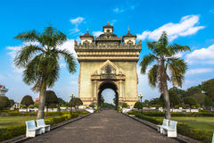 Patuxai, the Victory Gate Stock Images
