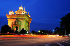 Patuxai or Victory Gate, Vientiane, Laos Royalty Free Stock Image
