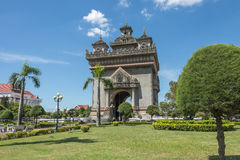 Patuxai Victory Monument à Vientiane, Laos Photo stock