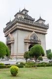 Patuxai Victory Monument is het Oriëntatiepunt van Vientiane-Stad, Laos royalty-vrije stock afbeeldingen
