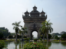 Patuxai of Victory Monument in Laos Stock Foto