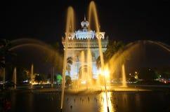 Patuxai Victory Monument, Vientiane Laos, il portone del monumento di vittoria di Vientiane Immagini Stock Libere da Diritti