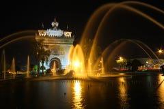 Patuxai Victory Monument, Vientiane Laos, il portone del monumento di vittoria di Vientiane Fotografia Stock