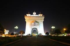 Patuxai Victory Monument, Vientiane Laos, il portone del monumento di vittoria di Vientiane Immagine Stock