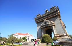 Patuxai Victory Monument, Vientiane Laos, il portone del monumento di vittoria di Vientiane Fotografia Stock Libera da Diritti