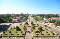 Patuxai Victory Monument, Vientiane Laos, il portone del monumento di vittoria di Vientiane Fotografie Stock