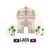 Patuxai Victory Monument in Vientiane. laos landmark. asean set Stock Photography