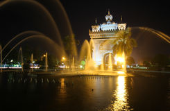 Patuxai Victory Monument, Vientiane Laos, the victory monument gate of Vientiane Royalty Free Stock Image