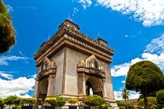 Patuxai - Vientain - Laos Zdjęcie Royalty Free