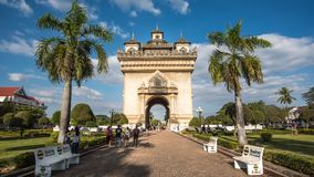 Patuxai in Vientiane, Laos Royalty-vrije Stock Afbeeldingen