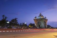 Patuxai Vientiane, Laos Stockfoto
